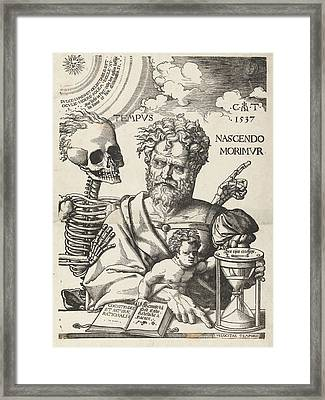 The Impermanence, Cornelis Anthonisz Framed Print