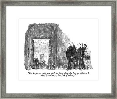 The Important Thing One Needs To Know Abut Framed Print