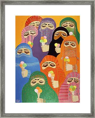 The Impossible Dream, 1988 Acrylic On Board Framed Print by Laila Shawa
