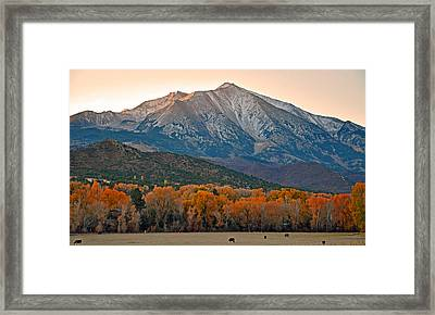 The Impressive Mount Sopris   Framed Print