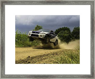 The Impreza Launch Framed Print