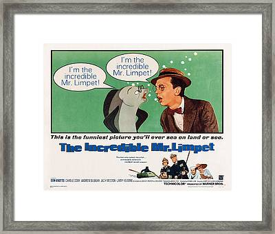 The Incredible Mr. Limpet, Us Framed Print