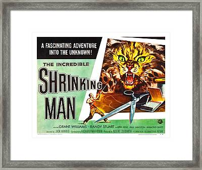 The Incredible Shrinking Man Poster Framed Print by Gianfranco Weiss