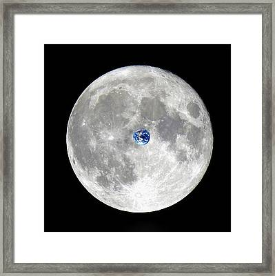The Incredible Shrinking Planet Framed Print by Kellice Swaggerty