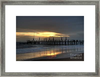 The Independent Yellow Framed Print