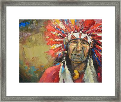 The Indian Chief Framed Print by Dmitry Spiros