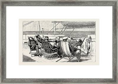 The Indian Relief Trooping Season Framed Print by Indian School