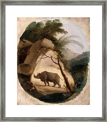 The Indian Rhinoceros, Thomas Daniell, 1749-1840 Framed Print by Litz Collection