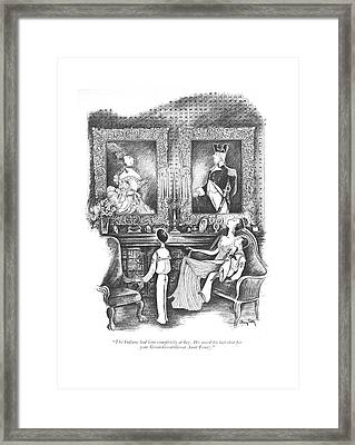 The Indians Had Him Completely At Bay. He Saved Framed Print by Mary Petty