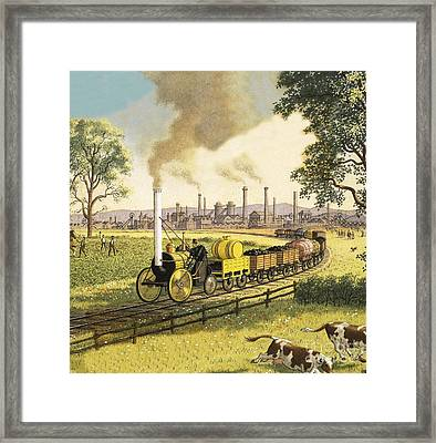 The Industrial Revolution Framed Print by Ronald Lampitt