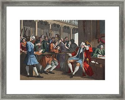 The Industrious Prentice Alderman Framed Print by William Hogarth