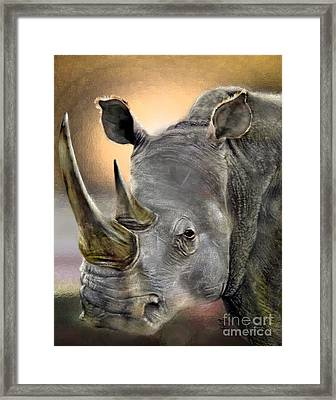 The Inevitable Collision-and So I Wait Framed Print by Reggie Duffie