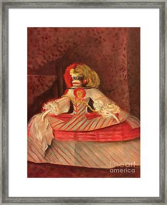 Framed Print featuring the painting The Infant Margarita by Randol Burns