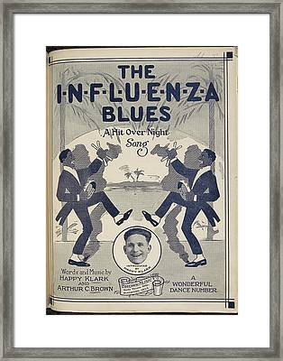 The Influenza Blues Framed Print by British Library