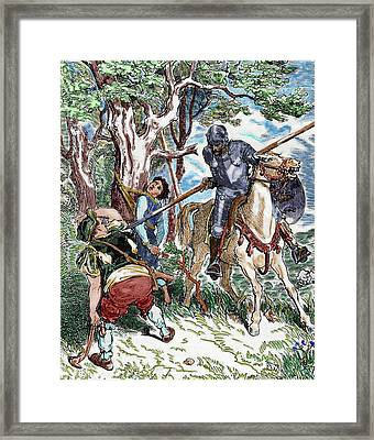 The Ingenious Hidalgo Don Quixote Of La Framed Print
