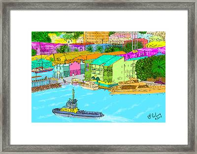 The Inlet Framed Print by Gerry Robins