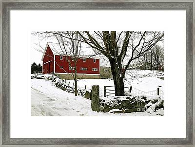 The Inn Framed Print by Laura Mace Rand