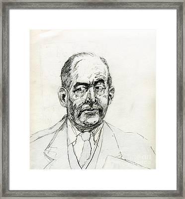 The Inner C S Lewis Framed Print by Whistler Kenworthy