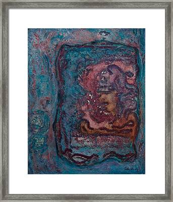 Framed Print featuring the mixed media The Inner Chamber by Carla Woody