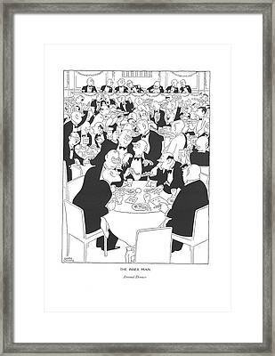 The Inner Man  Annual Dinner Framed Print by Gluyas Williams