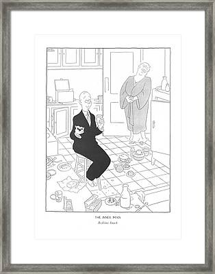 The Inner Man  Bedtime Snack Framed Print by Gluyas Williams