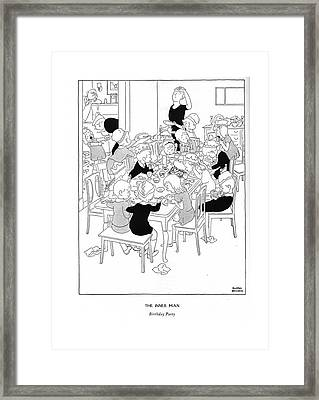 The Inner Man  Birthday Party Framed Print by Gluyas Williams