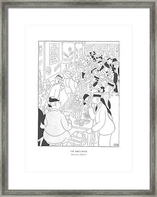 The Inner Man  Drugstore Lunch Framed Print