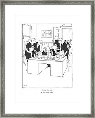 The Inner Man  High-pressure Lunch Framed Print by Gluyas Williams