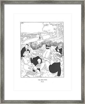 The Inner Man  Picnic Framed Print by Gluyas Williams