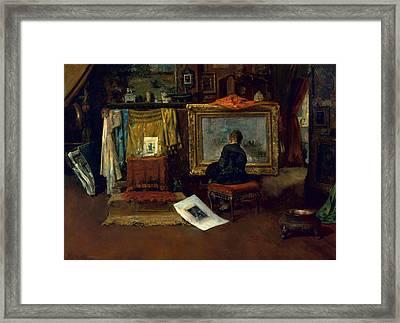 The Inner Studio, Tenth Street, 1882 Framed Print by William Merritt Chase