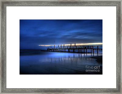 The Innocent White In Blue Framed Print