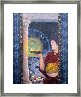 The Innovator Of Stars - Artwork For The Science Tarot Framed Print