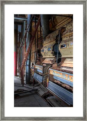 The Inside Of A Cotton Gin Framed Print by JC Findley