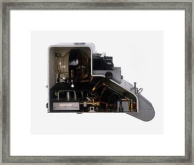 The Inside Of A Television Camera Framed Print by Dorling Kindersley/uig
