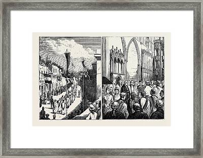 The Installation And Enthronement Of The New Bishop Of St Framed Print