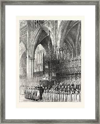 The Installation By The Dean And Chapter In York Minster Framed Print