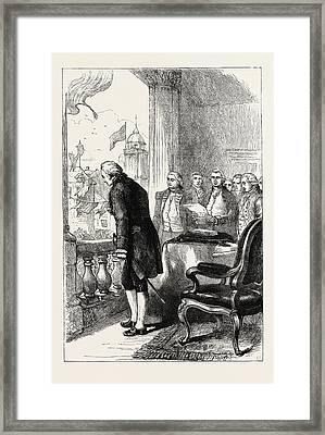 The Installation Of George Washington, United States Framed Print by American School