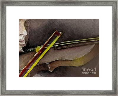 Framed Print featuring the painting The Instrument  by Allison Ashton