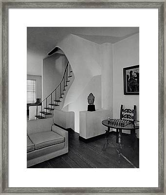 The Interior Of A Manhattan House Framed Print by Tom Leonard