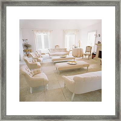 The Interior Of Luisa Beccaria's Home Framed Print by Pascal Chevallier