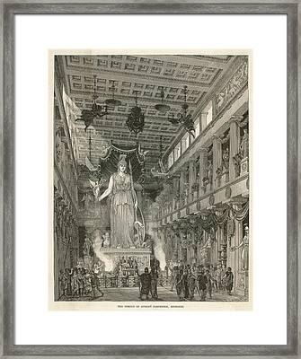 The Interior Of The Parthenon,  Or Framed Print by Mary Evans Picture Library