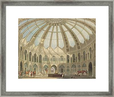 The Interior Of The Stables Framed Print by John Nash