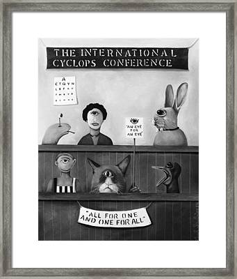 The International Cyclops Conference Edit 4 Framed Print