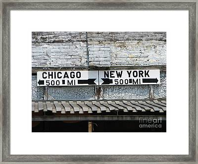 The Intersection II Framed Print