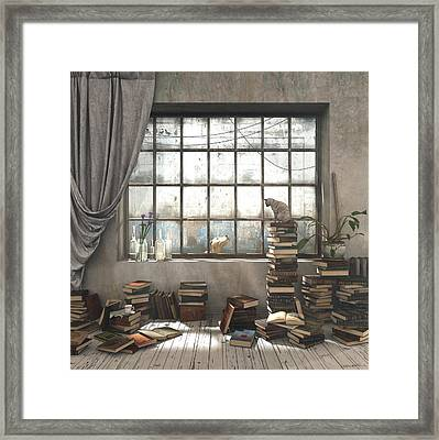 the introvert framed print by cynthia decker