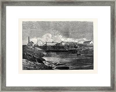 The Inundations In The Fens The Syphon Dam Framed Print