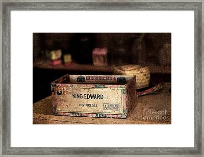 The Invincible King Edward Cigar Framed Print