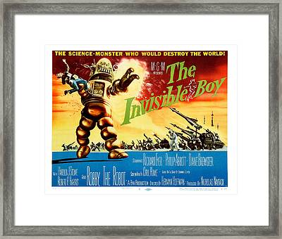 The Invisible Boy Poster Framed Print by Gianfranco Weiss