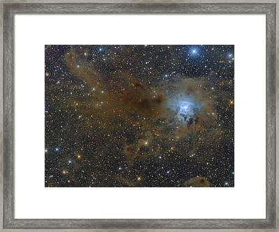 The Iris Nebula In The Constellation Framed Print by Roberto Colombari