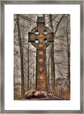 The Irish Brigade At Gettysburg  63rd-69th-88th New York Infantry St. Patricks Day 2012 Close-a Framed Print by Michael Mazaika